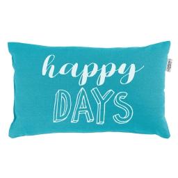 Coussin 30 x 50 cm coton imprime pacifique  days Turquoise