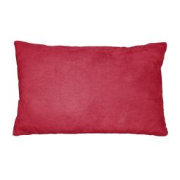 Coussin 30 x 50 cm suede uni suedine Rouge
