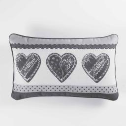 Coussin 40 x 40 cm coton imprime home love Gris