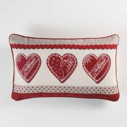 Coussin 40 x 40 cm coton imprime home love Rouge
