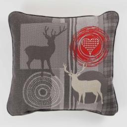 Coussin 40 x 40 cm coton imprime montana Gris