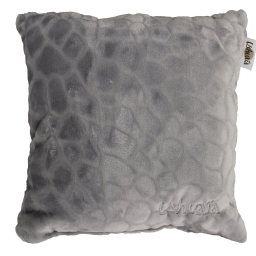 Coussin 40 x 40 cm flanelle relief brode ushuaia galets Gris