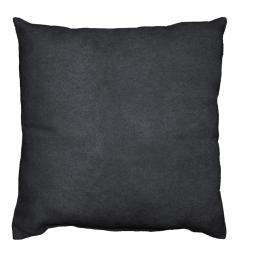 Coussin 40 x 40 cm suede uni suedine Noir