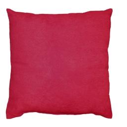 Coussin 40 x 40 cm suede uni suedine Rouge