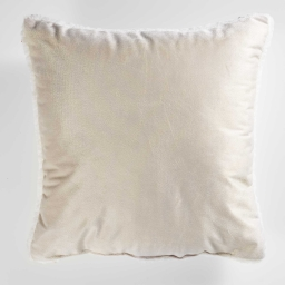 Coussin 40 x 40 cm velours/sherpa austral Lin