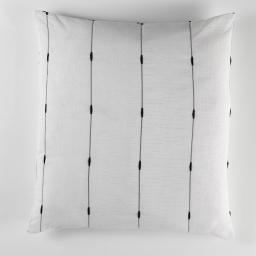 Coussin 60 x 60 cm jacquard bicolore filio Blanc