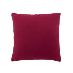 Coussin 60 x 60 cm tisse uni meliane Rouge