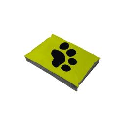 coussin chien rectangulaire 60*45*8cm bicolore - 300 gr polyester - dehoussable