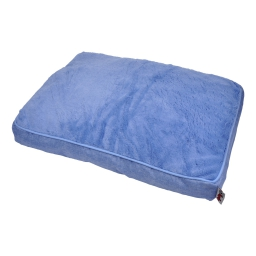coussin chien rectangulaire newton 80*60cm bleu