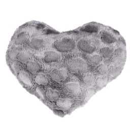Coussin coeur 40 x 40 cm imitation fourrure coeurs Anthracite