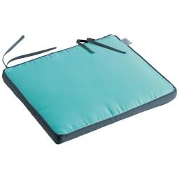 Coussin de chaise 43 x 37 x 5 cm polyester bicolore oasis Aqua/Anthracite
