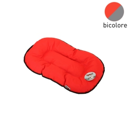 coussin flocon 38cm bicolore rouge/gris