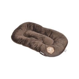 coussin flocon 53cm collection patchy chocolat/taupe