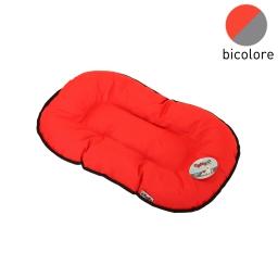 coussin flocon 61cm bicolore rouge/gris