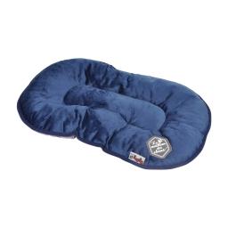 coussin flocon 77cm collection patchy bleu/gris