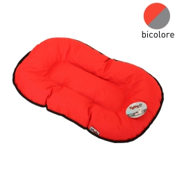 coussin flocon 87cm bicolore rouge/gris