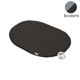 coussin galette 61cm bicolore noir/gris