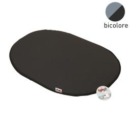 coussin galette 77cm bicolore noir/gris