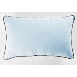 Coussin passepoil 30 x 50 cm coton uni edya Bleu