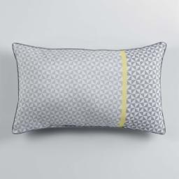 Coussin passepoil 30 x 50 cm polyester imprime matik  des. place Jaune
