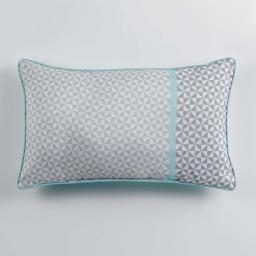 Coussin passepoil 30 x 50 cm polyester imprime matik  des. place Menthe