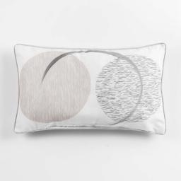 coussin passepoil 30 x 50 cm polyester imprime mondo des. place
