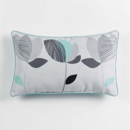 Coussin passepoil 30 x 50 cm polyester imprime mylae  des. place Menthe
