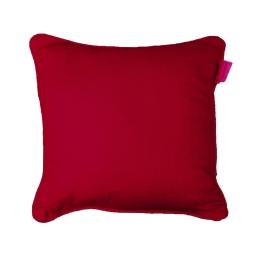 Coussin passepoil 40 x 40 cm coton uni panama Rouge