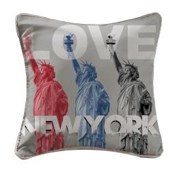 coussin passepoil 40 x 40 cm microfibre imprimee love new york des. place