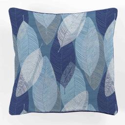 coussin passepoil 40 x 40 cm polyester imprime blue automn