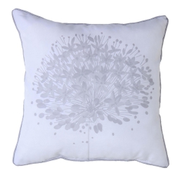 Coussin passepoil 40 x 40 cm polyester imprime galya  des. place Blanc