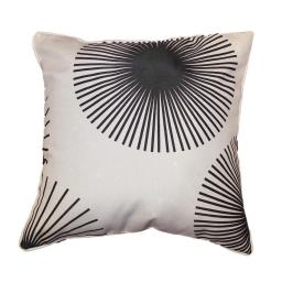 Coussin passepoil 40 x 40 cm polyester imprime hypnotic Blanc