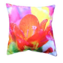 coussin passepoil 40 x 40 cm polyester imprime iris