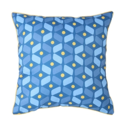 coussin passepoil 40 x 40 cm polyester imprime jodie