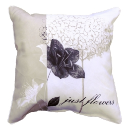 coussin passepoil 40 x 40 cm polyester imprime just flowers