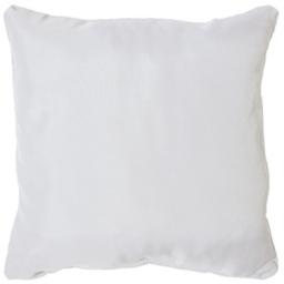 Coussin passepoil 40 x 40 cm polyester uni essentiel Blanc