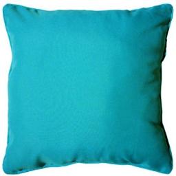 Coussin passepoil 40 x 40 cm polyester uni essentiel Bleu
