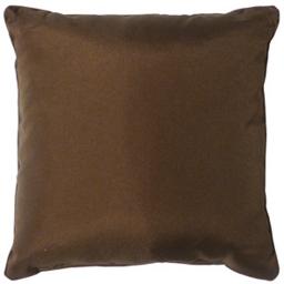 Coussin passepoil 40 x 40 cm polyester uni essentiel Chocolat