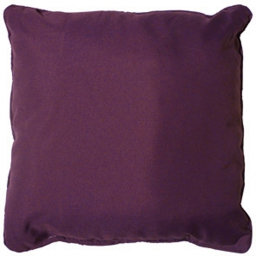 Coussin passepoil 40 x 40 cm polyester uni essentiel Prune