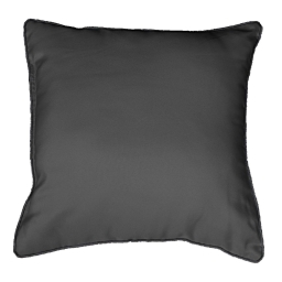 Coussin passepoil 40 x 40 cm polyester uni platine Anthracite