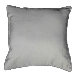 Coussin passepoil 40 x 40 cm polyester uni platine Gris