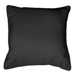 Coussin passepoil 40 x 40 cm polyester uni platine Noir