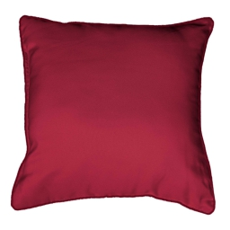 Coussin passepoil 40 x 40 cm polyester uni platine Rouge