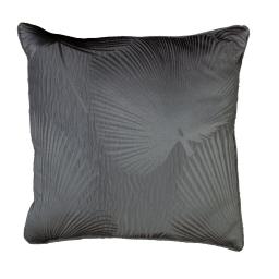 Coussin passepoil 40 x 40 cm taffetas froisse palmeraie Anthracite