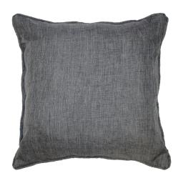 Coussin passepoil 60 x 60 cm chambray uni newton Anthracite