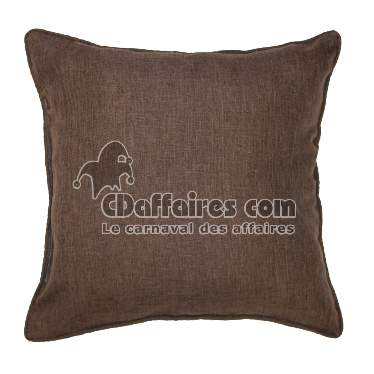 coussin passepoil 60 x 60 cm chambray uni newton choco cdaffaires. Black Bedroom Furniture Sets. Home Design Ideas