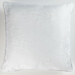 Coussin passepoil 60 x 60 cm jacquard adamo Blanc