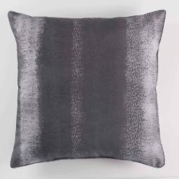 Coussin passepoil 60 x 60 cm polyester imprime arc en ciel Anthracite