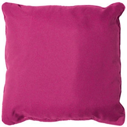 Coussin passepoil 60 x 60 cm polyester uni essentiel Fuchsia