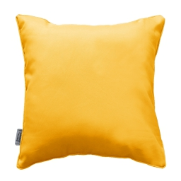Coussin passepoil 60 x 60 cm polyester uni essentiel Jaune
